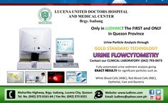 The 1st and the only Urine Flowcytometry in Quezon! Call our CLINICAL LABORATORY: (042) 793-0473
