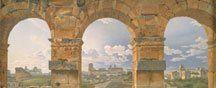 Statens Museum for Kunst: Christoffer Wilhelm Eckersberg, Marmortrappen, som fører op til kirken Santa Maria in Aracoeli i Rom