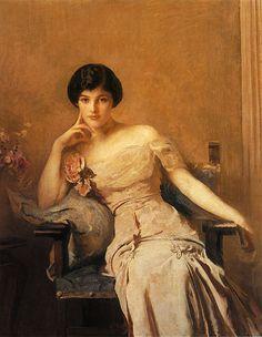 1912 Edmund Tarbell (American,1862-1938) ~ Mrs Lawrence