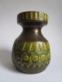 Green vintage vase Jasba West Germay by alicesvintagewonder