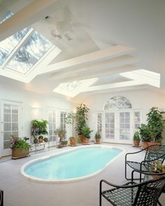 skylights and beams.  Better if it was wood.  Don't like white.