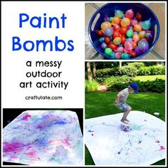 Make messy art outside this summer with these paint bombs! Paint Bombs a messy outdoor art activity The post Make messy art outside this summer with these paint bombs! appeared first on Summer Diy. Summer Preschool Activities, Outdoor Summer Activities, Babysitting Activities, Art Activities, Nanny Activities, Babysitting Boys, Outdoor Activities For Preschoolers, Outdoor Fun For Kids, Indoor Activities