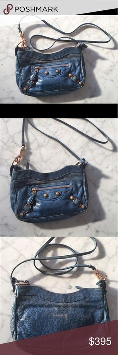 Balenciaga Blue Arena Classic Hip Bag Balenciaga Blue Arena Classic Hip Bag. Worn but still in good condition except for some wear as seen in the pictures. Balenciaga Bags Crossbody Bags