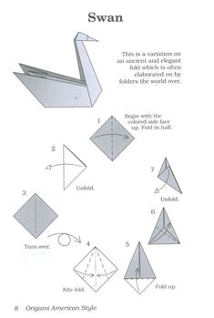 Swan Origami Instructions #1