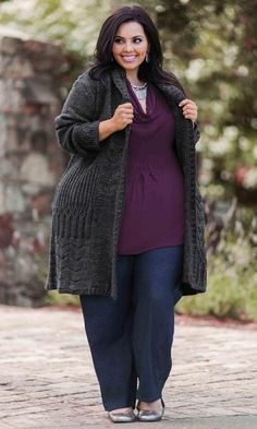 Fenway Cardigan / MiB Plus Size Fashion for Women / Winter Fashion / http://www.makingitbig.com/product/5070