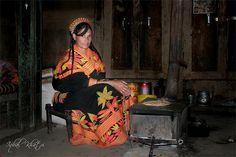 Kalash Woman at Work