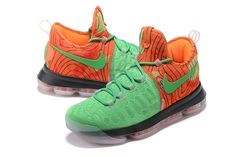 best cheap bac91 1e476 New KD 9 Flyknit IX Voltage Green Poison Green Laser Orange Mens Basketball  Shoes 2018 Sale