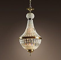 19th C. French Empire Crystal Chandelier Small   Ceiling   Restoration Hardware