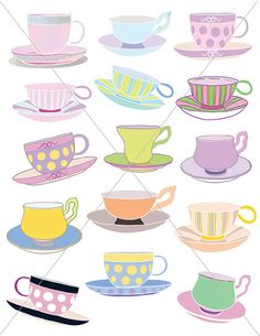 Teacup clipart black and white free clipart | Wonderland Homecoming ...