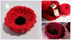 This poppy will sit up nice and proud and hold it& shape even if left out in the rain. The pattern is provided in both Australian/UK terms and US terms. Knitted Poppy Free Pattern, Knitted Flower Pattern, Crochet Cat Pattern, Flower Patterns, Crochet Patterns, Knitting Patterns, Knitting Stitches, Knitted Poppies, Knitted Flowers