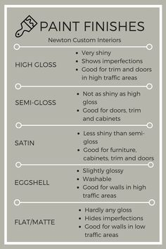 Learn how to pick paint finishes for your next painting project. The right paint finish can really make or break your painting project! #paintfinishes #paint #choosingpaint