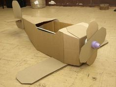 Cardboard Airplane, Cardboard Car, Airplane Crafts, Cardboard Box Crafts, Airplane Party, Paper Crafts, Cardboard Castle, Planes Birthday, Planes Party