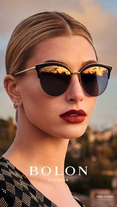 Bolon Eyewear taps top model Hailey Baldwin as the face of its 2017 campaign. The blonde beauty poses in chic sunglass and optical styles for the new advertisements. Hailey looks ready for her closeup in Summer Sunglasses, Stylish Sunglasses, Cheap Sunglasses, Polarized Sunglasses, Cat Eye Sunglasses, Mirrored Sunglasses, Sunglasses Women, Hailey Baldwin, Moda Feminina Plus Size