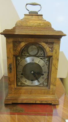 AT1105 Bracket Clock - http://pageantiques.com.au/