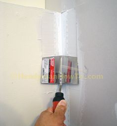 Strait-Flex Medium Drywall Tape Installation: Inside Corner Tool