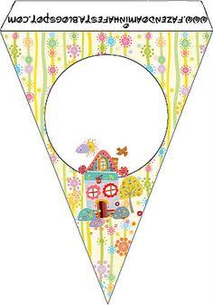 Jardim Casinha de Bonecas - Kit Completo com molduras para convites, rótulos para guloseimas, lembrancinhas e imagens!