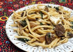 Coconut & Lime // recipes by Rachel Rappaport: Spaetzle with Mushrooms, Spinach and Chèvre