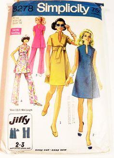 1960s Mod Sleeveless Sundress Tunic Jiffy Pants dress Raised