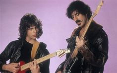 Sweet pix of Dweezil & Frank Zappa. Dweezil says back then he was into VanHalen -- not his dad's music. LOL!