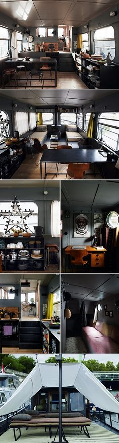 houseboat in Paris, fabulous colours