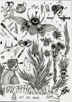 delivermetoevil:  Tattoo flash sheets created by Izabella Dawid...