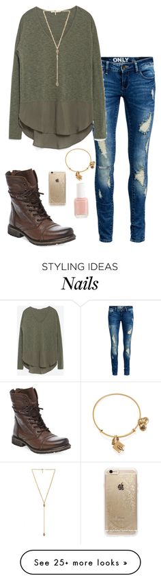 """Fall casual"" by thepinkcatapillar on Polyvore featuring ONLY, Zara, Steve Madden, Alex and Ani, Rifle Paper Co, Ettika and Essie"