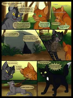 """Warriors into the wild starts near bottom of page 36 - ends at very top of page 36 ______________________________________________ Longtail tumbled away from him... ------ """"Hey Firepaw!"""" ___________..."""