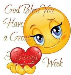 God Bless You! Have a Great & Blessed Week! Smileys, Funny Emoticons, Funny Emoji, Animated Emoticons, Love Smiley, Emoji Love, Emoji Images, Emoji Pictures, Good Morning Good Night
