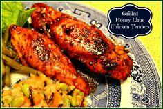 Sweet Tea and Cornbread: Grilled Honey Lime Chicken Tenders!   Cracker Barrel Style!