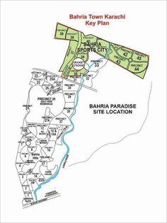 Bahria Town Karachi all Precincts Maps | Bahria City