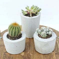 If you love planters, then you'll love how simple these diy concrete planters are to make, learn how to with just a few quick steps.
