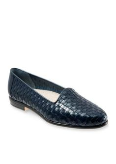 Trotters Blue Liz Woven Loafer