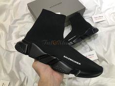 Giày Sneaker Balenciaga Speed Trainer All Black - Đen Rep 1:1 Balenciaga Speed Trainer, Bordeaux, All Black, Trainers, Sneakers, Shoes, Fashion, Tennis, Tennis