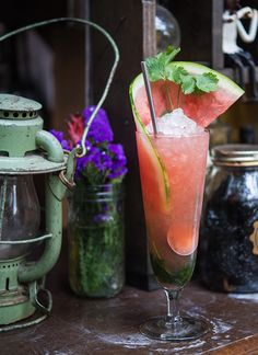 El Vato Swizzle: A summery muddle of watermelon, cilantro and agave syrup, this Miami Beach-born cocktail is a near-Margarita, but in the form of an icy swizzle.