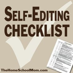Self-editing checklist, download