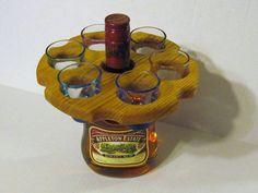 Shot Glass holder Made Of Oak Wood. $7.95, via Etsy.