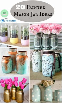 Painted+Mason+Jar+Ideas.jpg (956×1600)