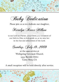 Baby Dedication Invitation Babies Dedication Ideas And Christening