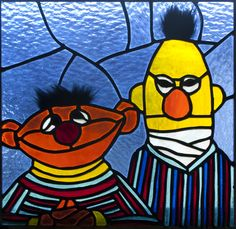 Bert and Ernie window based on the one from Muppet Studios