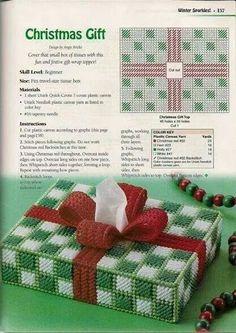 Christmas Gift Tissue Box Cover 1/2