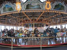 The restored carousel, originally from Lincoln Park, Dartmouth, Ma  Used to take my little girls all the time !