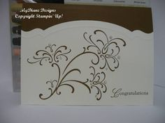 Beautiful Wedding card!  Wedding Sweet stamp set & Adorning Accents edgelits dies from Stampin' Up!