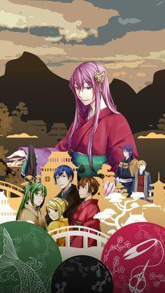 Vocaloid - Enbizaka no Shitateya - Megurine Luka, Kaito, Meiko, Hatsune Miku, Kagamine Rin, Kamui Gakupo, Kagamine Len, MA