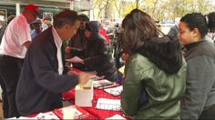 The NY Fire Department distributed free batteries and smoke detectors to keep citizens safe.