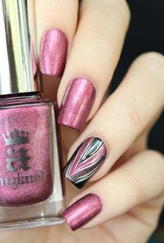 Are you looking for some inspirational super easy summer nail art designs that can be put in a jiffy? If yes, then here is the collection of most amazing and super easy nail art ideas to pick from. Fancy Nails, Love Nails, How To Do Nails, Pretty Nails, My Nails, Pink Nail Art, Pink Nails, Purple Nail, Colorful Nail Designs