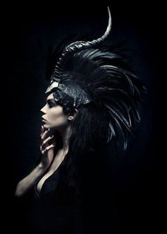 "asylum-art: "" Headdresses by Miss G Designs in ""Midnight"" Midnight for Superior Magazine August 2012 Photography: Daniel Jung Models: Alexandra Mathews & Daniel Ribiat Hairstylist: Teal Druda Makeup. The Wicked The Divine, Feather Headpiece, Foto Art, Dark Fashion, High Fashion, Fashion Fashion, Fashion Design, Headgear, Headpieces"