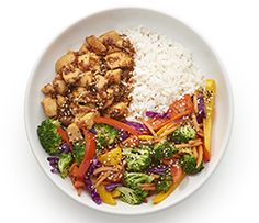 Dine in tonight with our restaurant version of a warm Teriyaki rice bowl. It is perfectly balanced and will quickly become one of your go-to recipes.