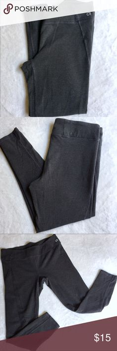 Gap Fit Activewear Charcoal gray striped activewear bottoms by Gap. Gently worn and loved, perfect for lounging or exercise. Cotton/spandex material. Some piling, see photos. PRICE FIRM. GAP Pants