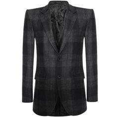 Alexander McQueen - Wool Check 2-Button Jacket