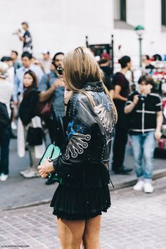 New_York_Fashion_Week-Spring_Summer-2016-Street-Style-Jessica_Minkoff-Diesel_Black_And_Gold-Anna_Dello_Russo-Leather_Jacket-